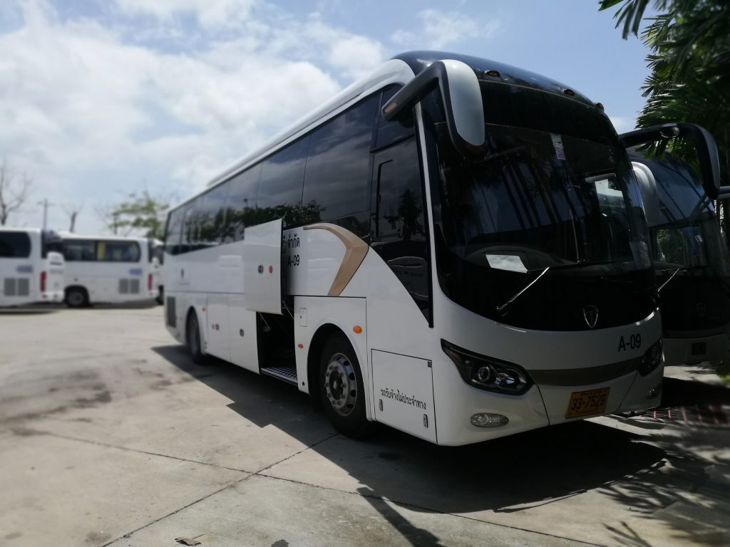 bus service with driver Thailand